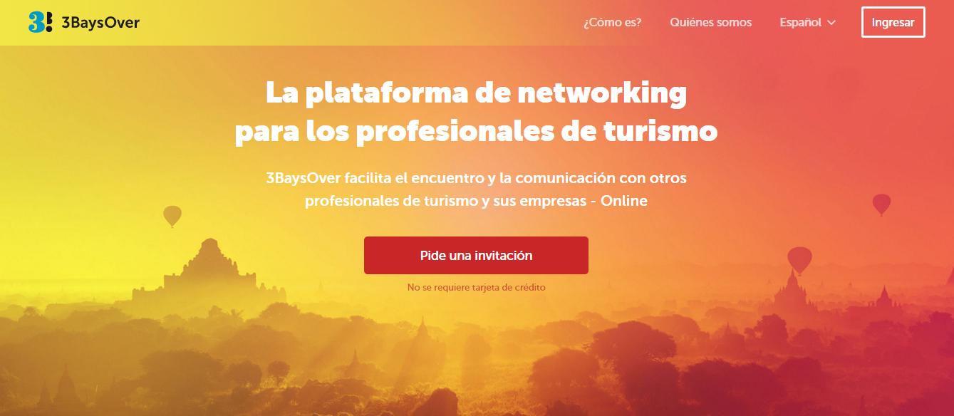 3baysover, red social solo para profesionales del turismo.